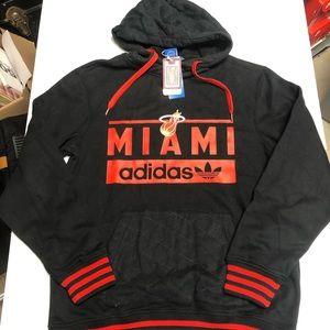 Black Adidas Miami Heat hoodie large